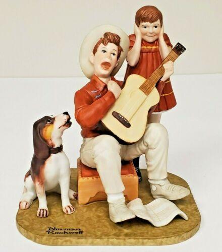 "Vintage Norman Rockwell Porcelain Figurines ""Music Man"" The Danbury Mint"