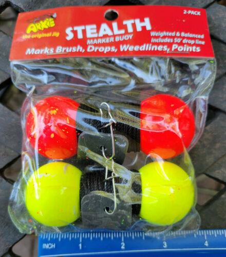 Stealth Marker Buoy 2 Pack ARKIE Marks Brush, Drops, Weedlines, Points 50