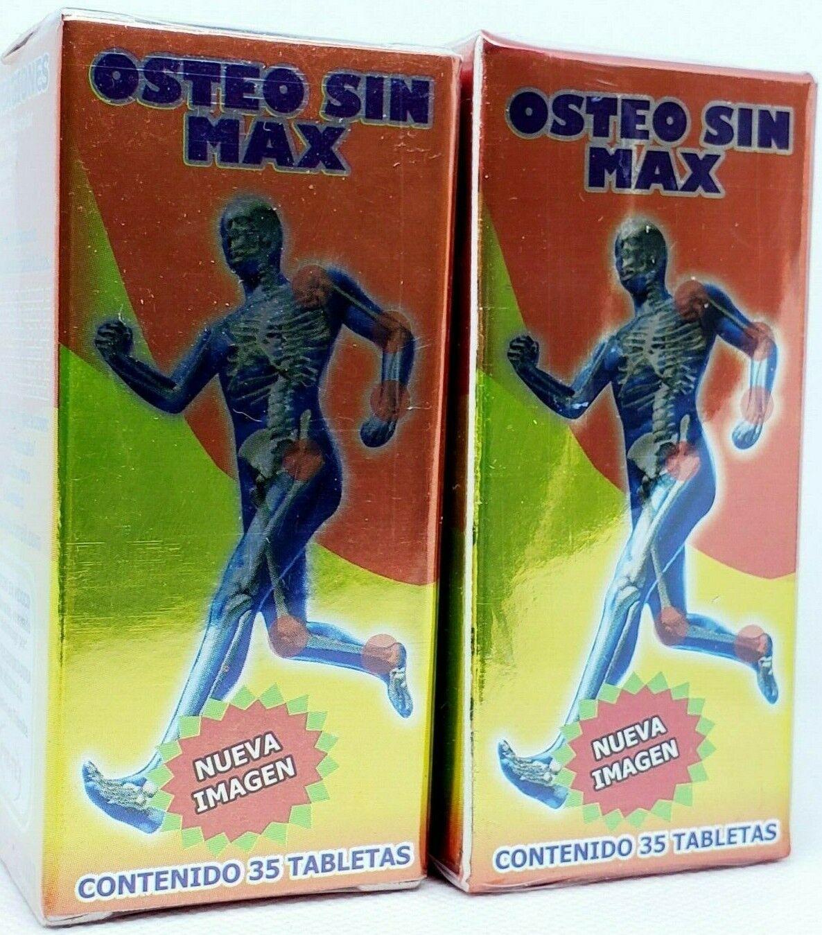 2  PACK OSTEO SIN MAX 100% ORIGINAL ARTHRITIS JOINT PAIN ARTRITIS OSTEOPOROSIS