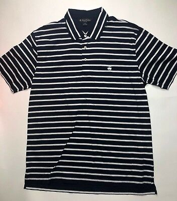 Brooks Brothers Slim Fit Mens Short Sleeve Polo Shirt Macy Striped Size 2XL