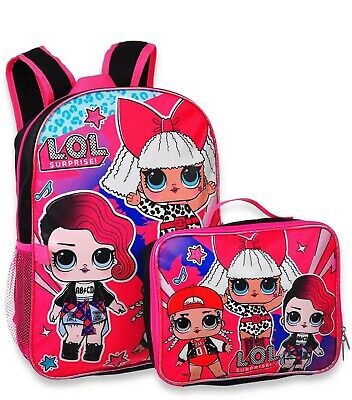 L.O.L. Surprise lol Girls Cute School Book bag Backpack Lunch Box Doll Kids Gift - Backpacks Lunch Boxes