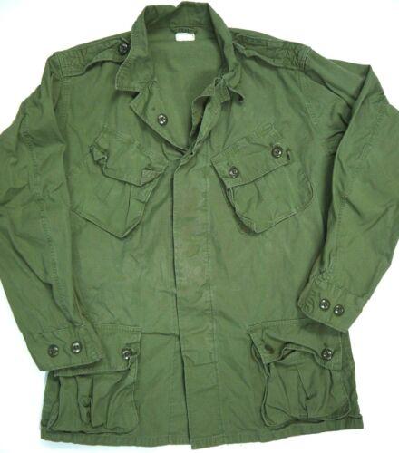 Vintage 60s First Pattern Jungle Jacket Military Army Vietnam War Era OG-107 M