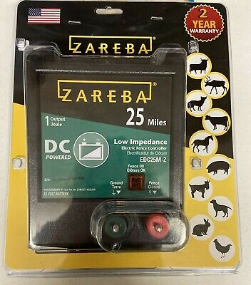 Zareba Dc Powered 25 Miles Electric Fence Controller New Factory Sealed Free Shi