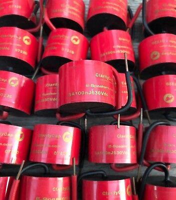 Claritycap Clarity Film Capacitor Sa 100 Nf .10 Uf 630v Audio Grade Clarity Cap