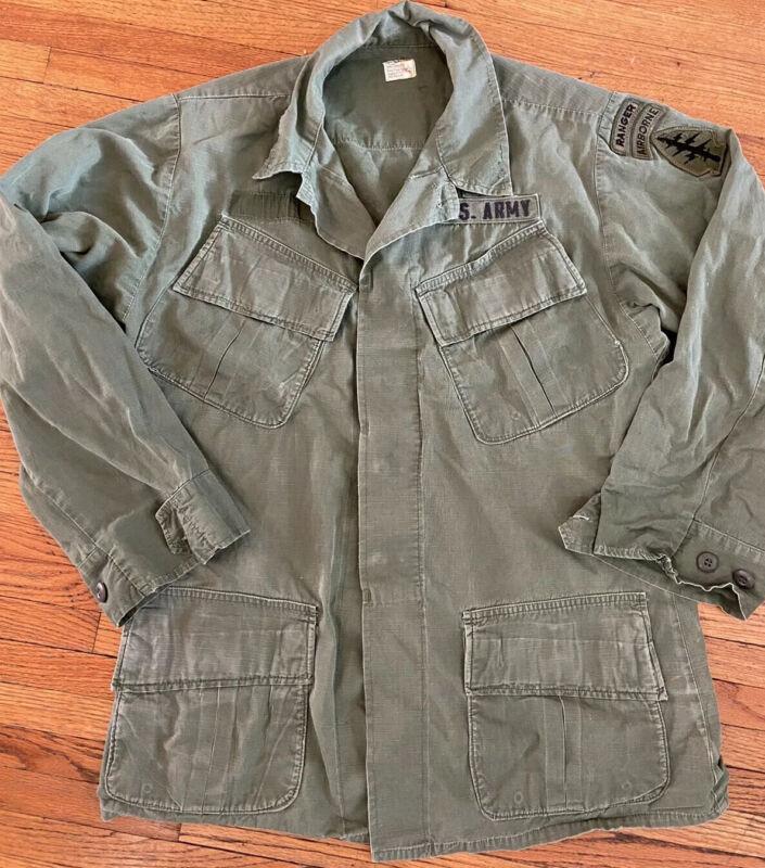 Vietnam War 1970 Jungle Jacket Sm Special Forces Rip-stop Fatigues 1970s