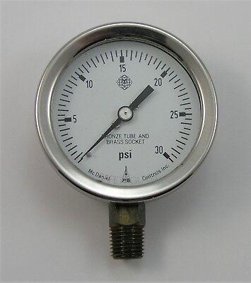Mcdaniel Controls Pressure Gauge 0-30 Psi Range 14 Npt Ab40423 Code Jb