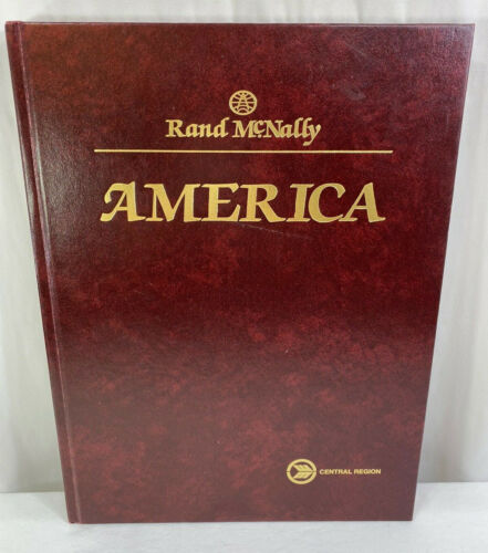 Rand McNally AMERICA Maps & Photographs Leather Bound Book