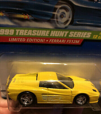 1999 Hot Wheels #5 Treasure Hunt Ferrari F512M Limited Edition