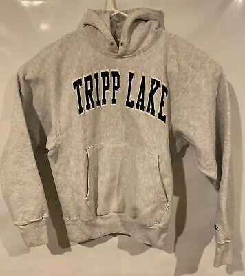 Vintage 90s Champion Reverse Weave Tripp Jacket Hoodie Gray Rare Authentic Men M