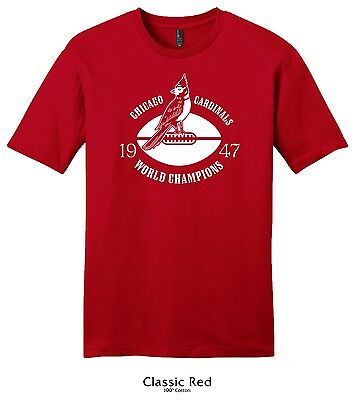 Chicago Cardinals 1947 World Champs Nfl Football Tee   Bears Vintage Throwback