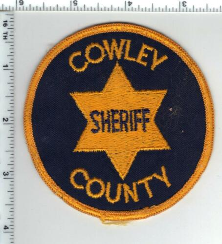 Cowley County Sheriff (Kansas) uniform take-off patch early 1980