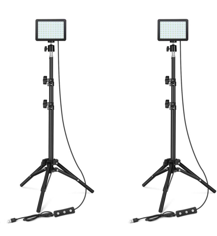 Lighting Video Recording Decade 88 LED Dimmable 5600K & adjustable tripod/ color