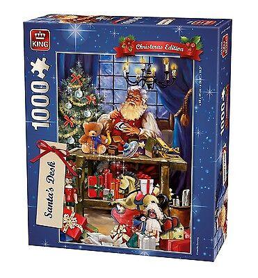 1000 Piece Christmas Jigsaw Puzzle Santas Desk Making Toys Grotto Presents 05360