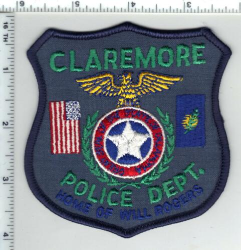 Claremore Police (Oklahoma) 2nd Issue Shoulder Patch - new from the 1980