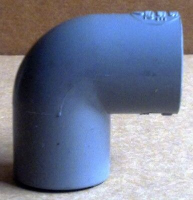 """Solvent Weld (PVC) - 3/8"""" Pressure Pipe - 90 Degree Elbow"""