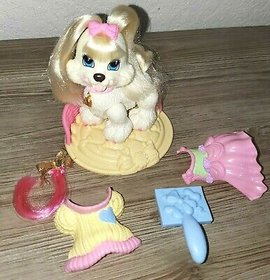 Fisher Price GINGER Shih Tzu Puppy Dog Snap & Style White Pony Tails