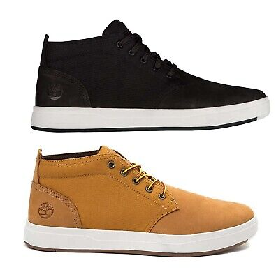 - Timberland Men's Davis Square Chukka Leather Boots Ortholite Casual Ankle Shoes