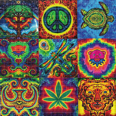 Tie Dye Paper (JAMMIN TIE DYE Peace BLOTTER ART perforated sheet paper psychedelic)