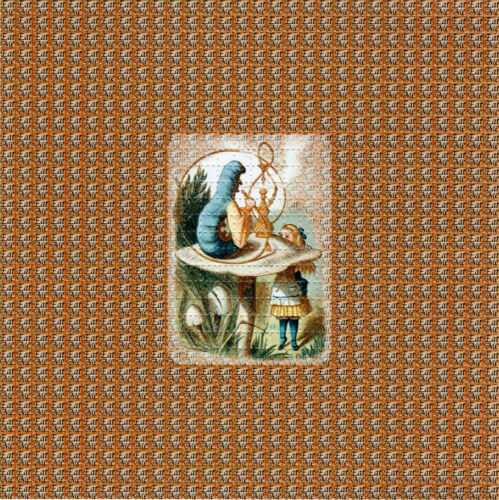 EAT ME Alice In Wonderland BLOTTER ART perforated sheet paper psychedelic art