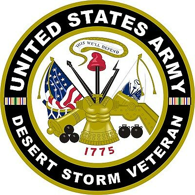 UNITED STATES Army Desert Storm Veteran  Decal Window Bumper Sticker