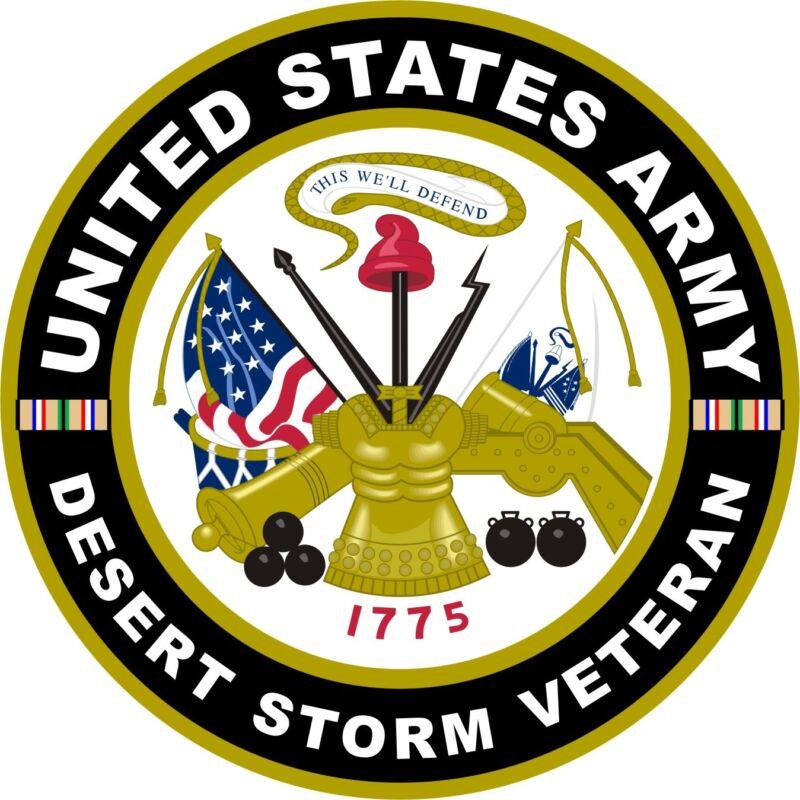"UNITED STATES Army Desert Storm Veteran Aluminum Sign 11.75"" Round"