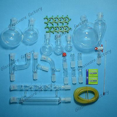 30pcs2429organic Chemistry Glassware Kitlaboratory Chemistry Kitlab Glass