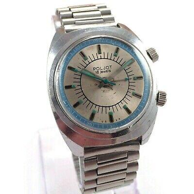 Vintage Soviet POLJOT Signal, Manual ALARM wrist watch, USSR *US SELLER* #1511