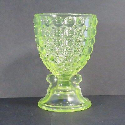 VERY RARE! Adams 1000 Eye Egg Cup, Yellow Vaseline Glass Circa1891