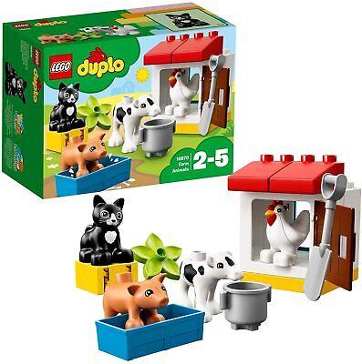 LEGO DUPLO Town Farm Set Animals Kids Building Bricks Toy Chicken Cat Piglet New