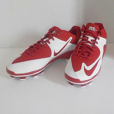 a80589119e6 Nike MVP PRO 2 MCS Baseball Softball Cleats WHITE RED 716874 610 Men Size  12.5