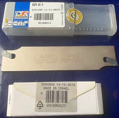 New Iscar 3mm Parting Grooving Tool Sgfh 26-3.self Grip 2 X Gfn 3 Inserts