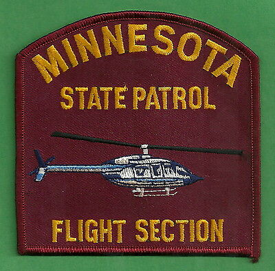 MINNESOTA STATE PATROL HELICOPTER UNIT POLICE PATCH