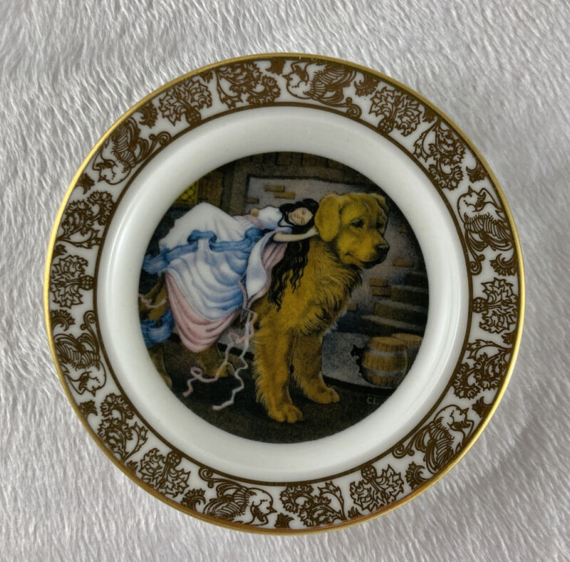 THE TINDER BOX Mini Plate The Best Loved Fairy Tales Carol Lawson Franklin Porc