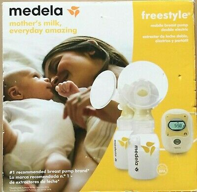 Medela Freestyle Mobile Double Electric Breast Pump with Accessories Genuine