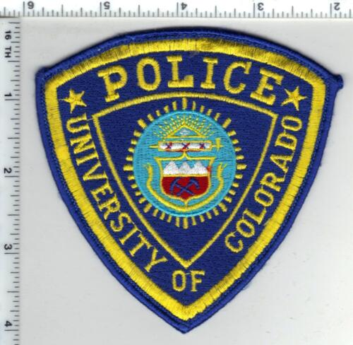 University of Colorado Police Uniform Take-Off Shoulder Patch from the 1980