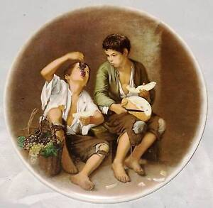Trivet Hanging Tile Boys Eating Grapes and Melon after Murillo Windsor Hawkesbury Area Preview