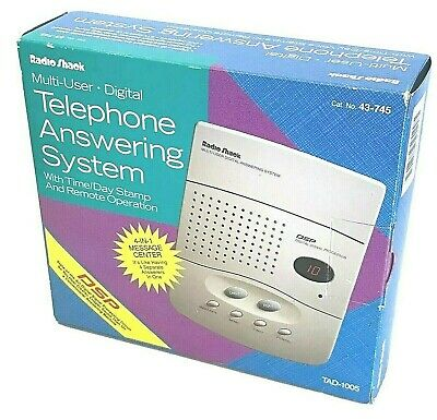 Telephone Digital Answering System Machine Radio Shack 4-Line TAD-1005 Landline