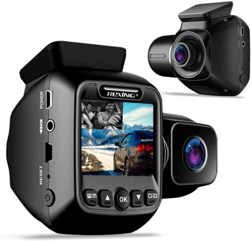 "Rexing W202 Mini 2"" LCD Dual Camera Front and Inside Cabin 1080p FullHD Dash Cam"