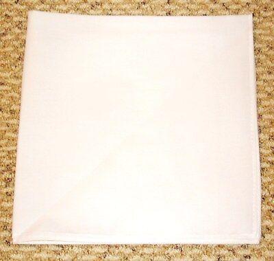SOLID WHITE Bandana Bandanna 100% Cotton BIKER DURAG DOORAG HANKY HEADWRAP