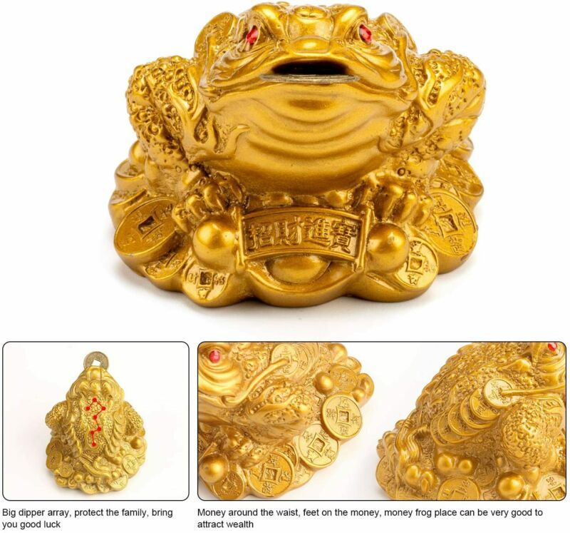 Feng Shui Money Frog Lucky Money Toad Decorations Attracting Wealth Ideal Gift