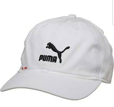 Mens Puma logo BB Cap white/black/red RRP £11.99