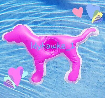 ♡ BIG Victoria's Secret PINK Dog Inflatable Floating Pool Drink Koozie Holder  - Floating Koozie