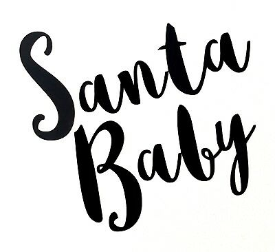 Santa Baby Vinyl Decal Sticker - Ideal for Mugs - Great for DIY Christmas Gifts (Diy Christmas Mugs)