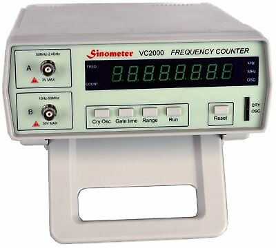 Sinometer Vc2000 8-digits Bench Frequency Counter With Ac Power Cable Bnc Test
