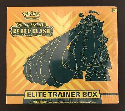 2x Pokemon Sword & Shield Rebel Clash Elite Trainer Box - Sealed - Copperajah