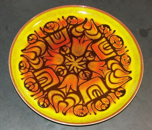 Poole Art Pottery Aegean 12.5 in Charger Plate MCM Abstract Wall Hanging