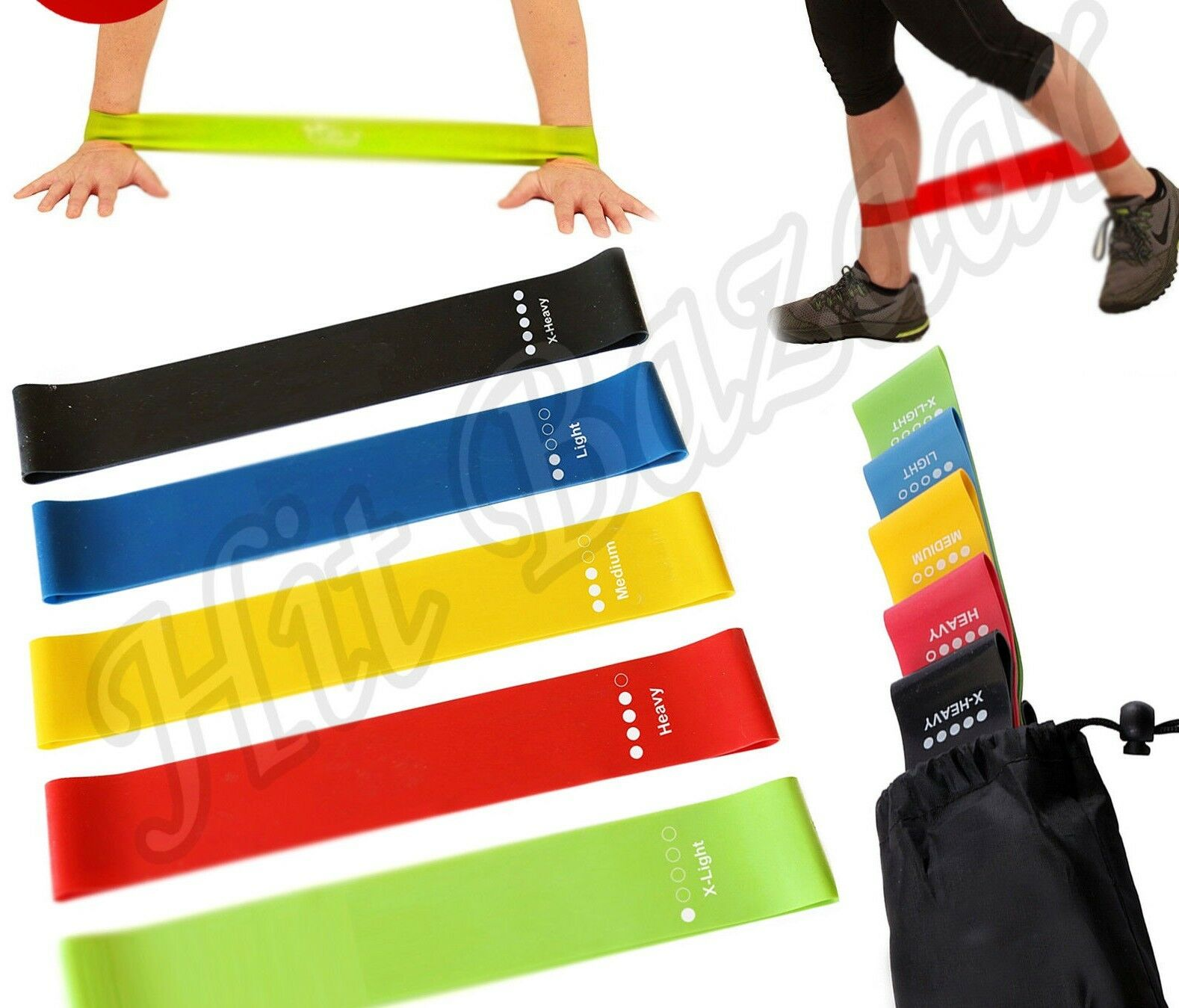5 RESISTANCE BANDS LOOP Exercise Yoga Training Fitness Home