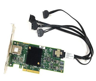RAID Controller SAS9217 4i4e 6Gbs 725904-001 HP Kabel miniSAS 4x SATA 483508-003