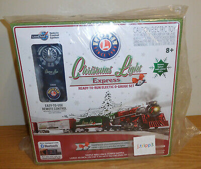 LIONEL 2023080 CHRISTMAS LIGHT EXPRESS LIONCHIEF STEAM ENGINE TRAIN SET O GAUGE
