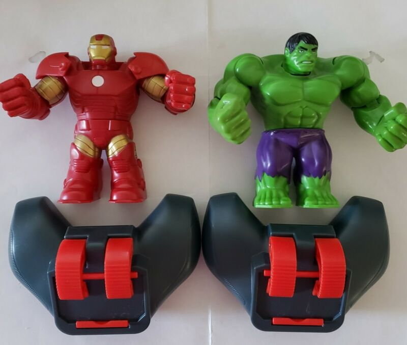 Marvel Iron Man Hulk Hasbro Battle Masters With Controllers As Shown EUC Disney